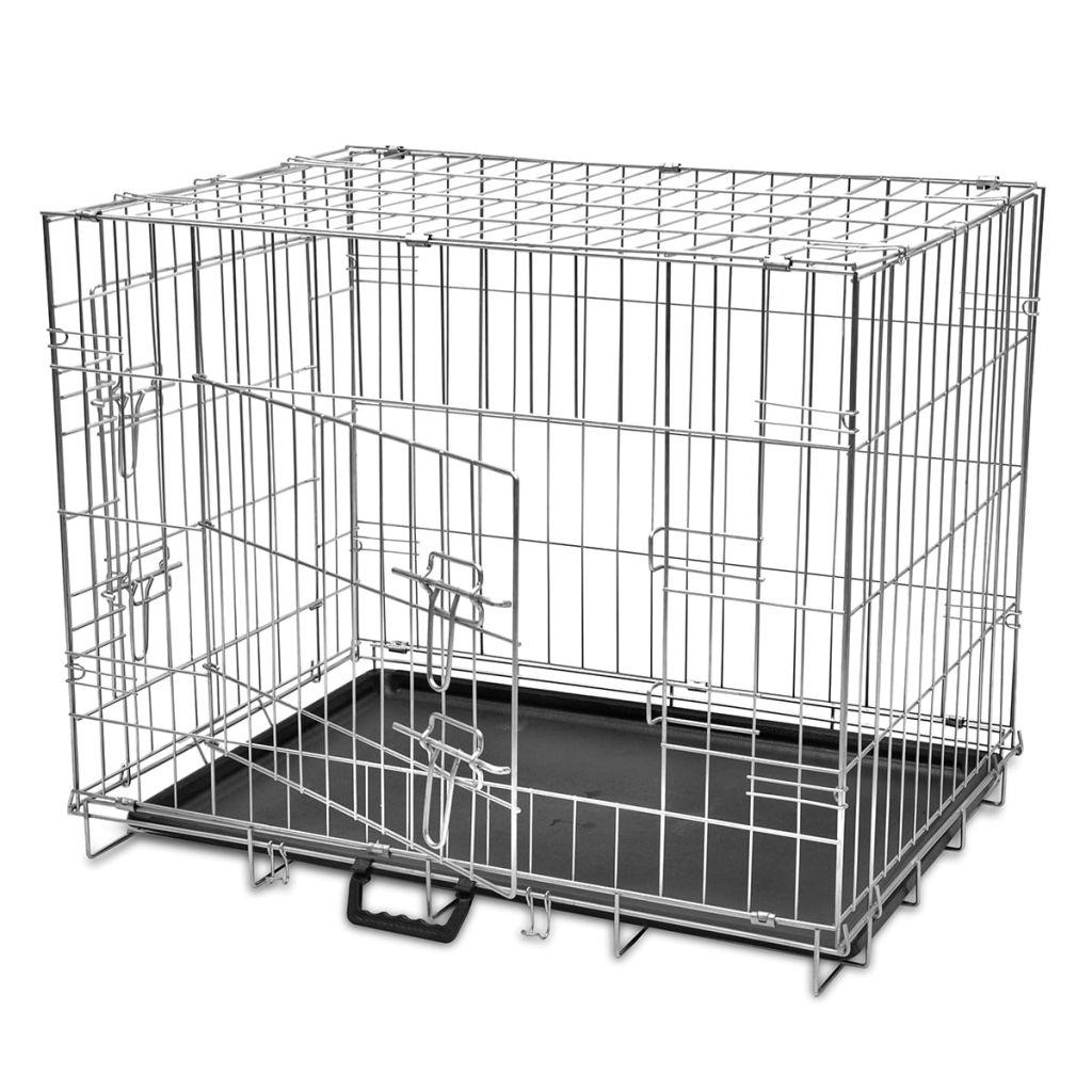 Skladacia kovová klietka pre psa, veľkosť M
