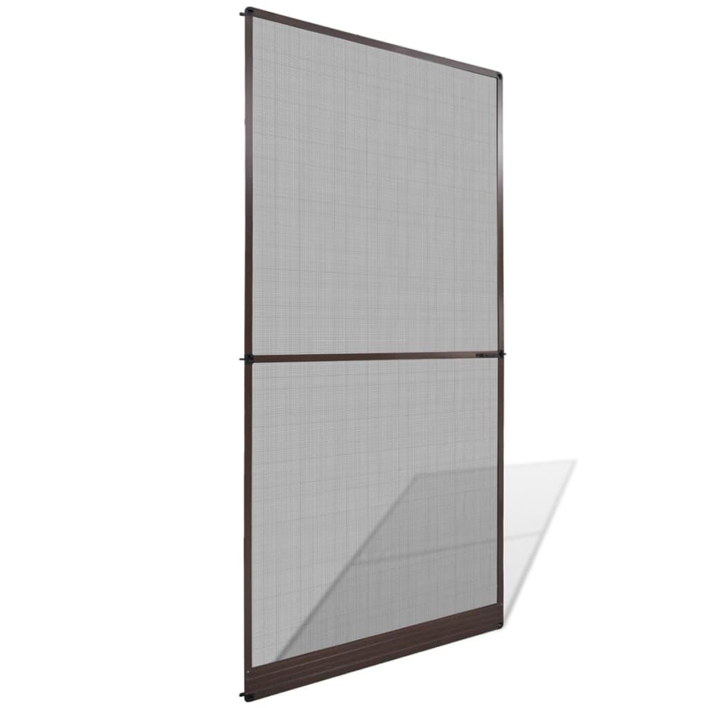 Hnedá závesná sieťka do dverí 120 x 240 cm