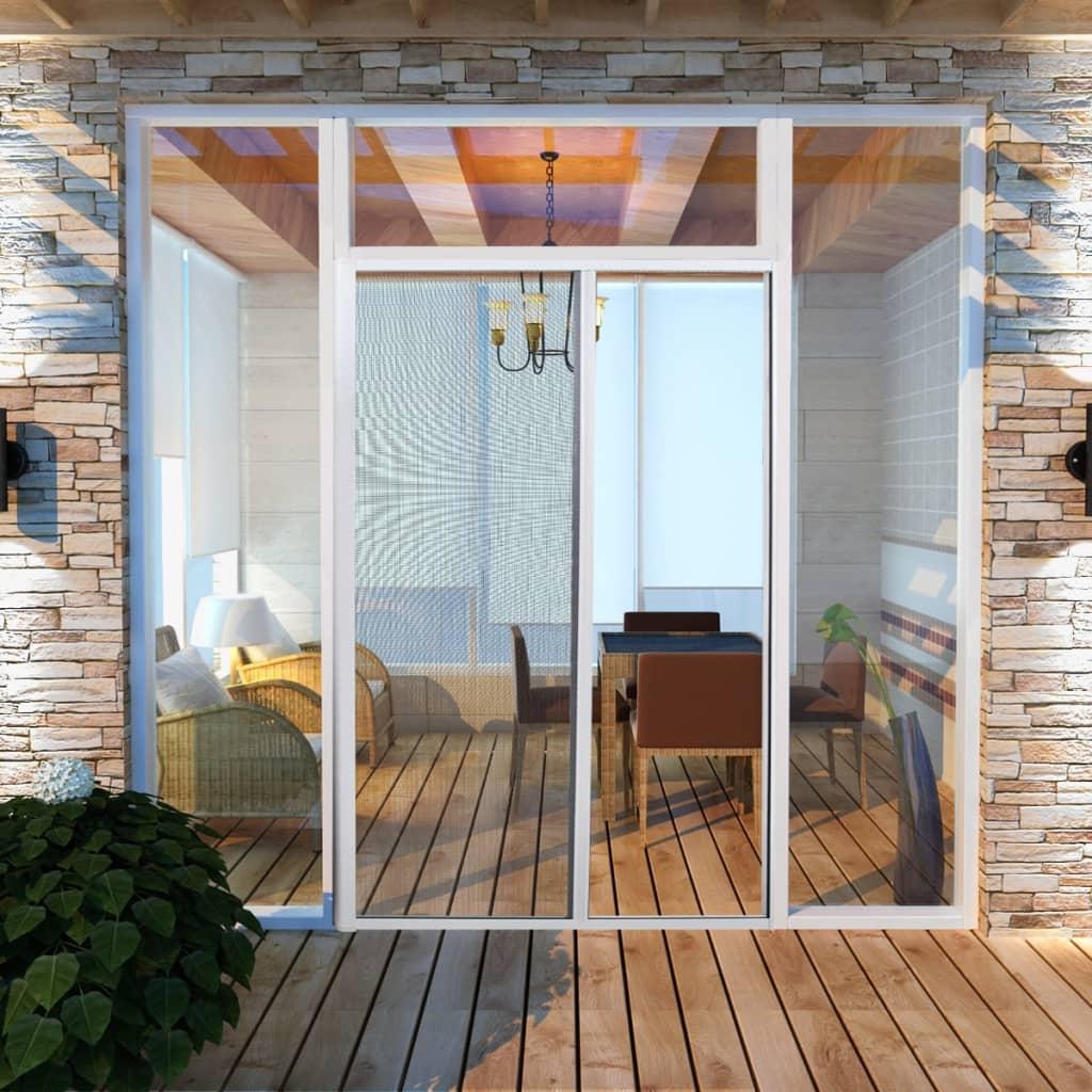 Biela posúvacia sieť proti hmyzu na dvere 120 x 215 cm