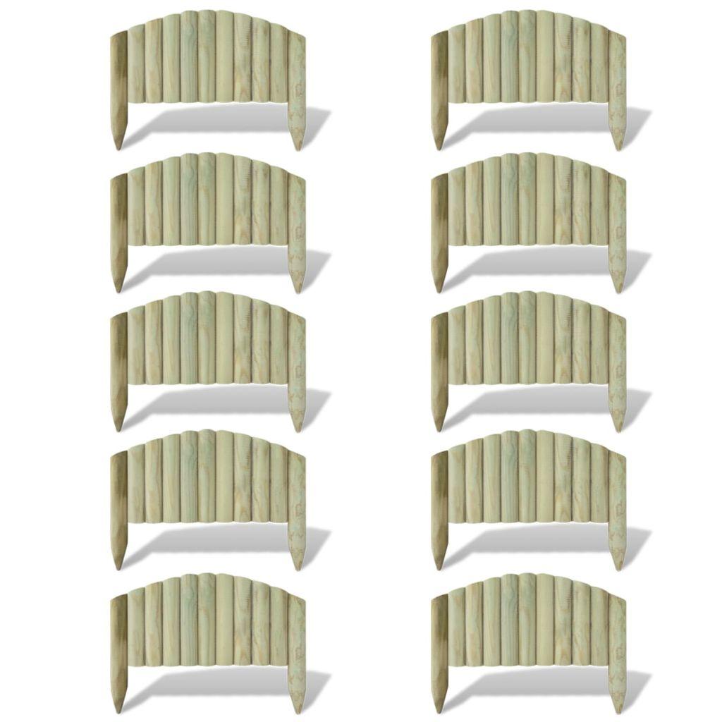 10 ks 55 cm dlhých panelov na ohraničenie trávnika oblúkové
