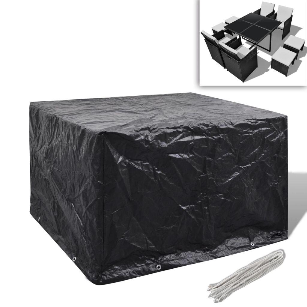 Ochranný obal na záhradný polyratanový nábytok pre 4 osoby, 8 očiek, 113 x 113cm