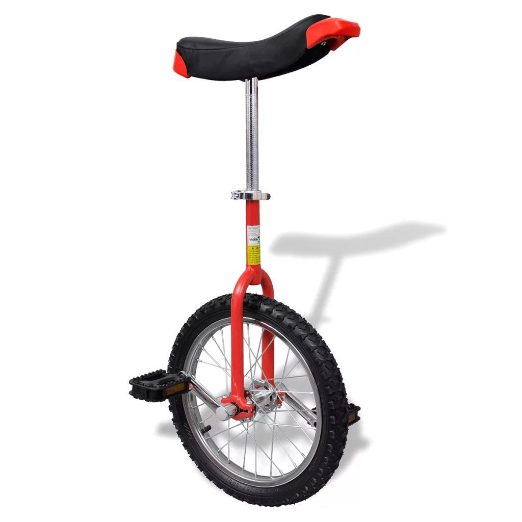 Červená nastaviteľná jednokolka, priemer kolesa 40,7 cm
