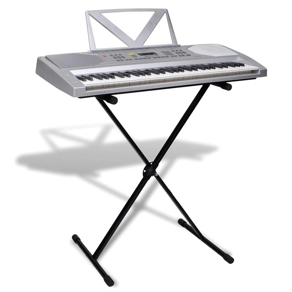 Elektronický keyboard so 61 klávesami, stojan na noty+klávesový stojan