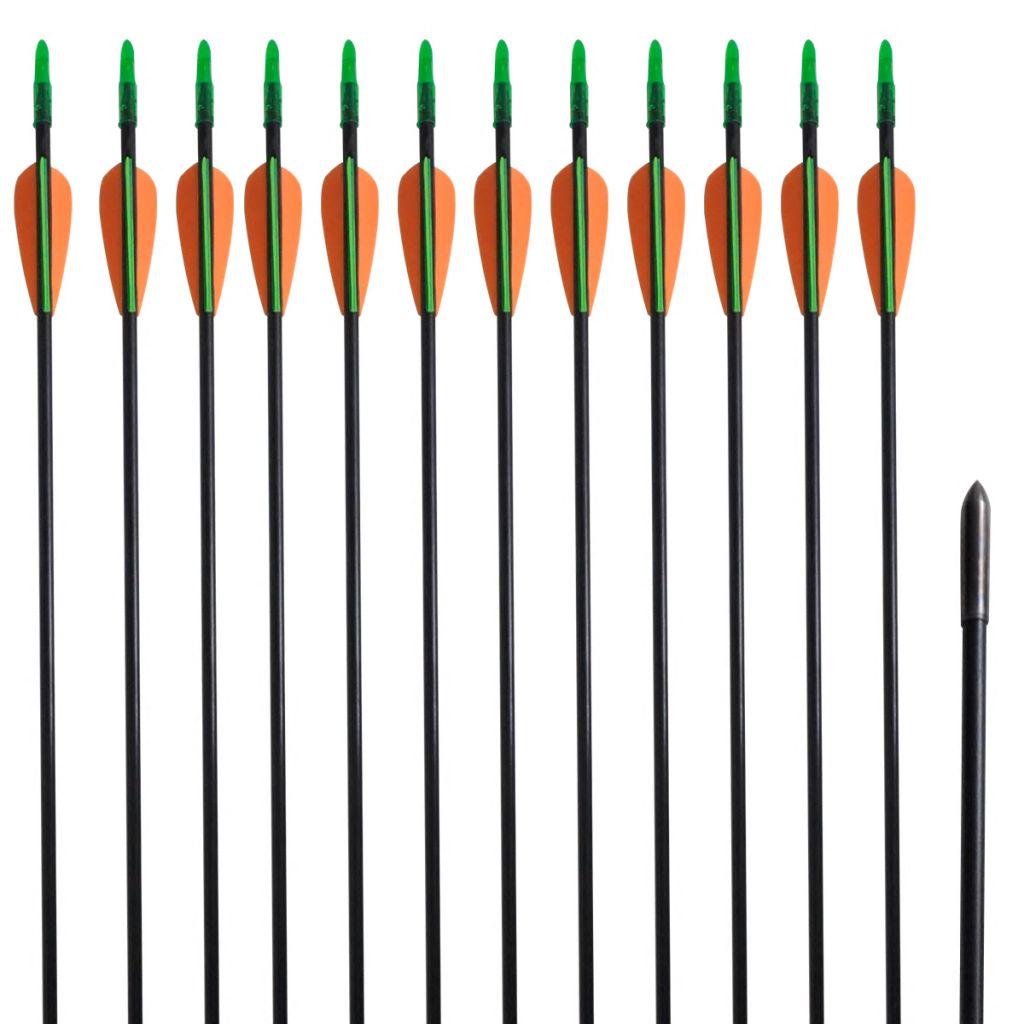 Štandardné šípy na reflexný luk zo skleného vlákna 30
