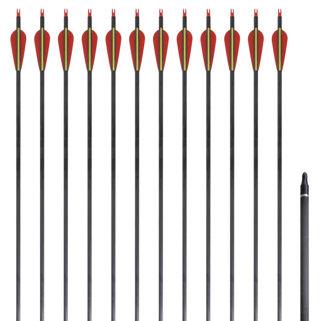 Štandardné karbónové šípy na reflexný luk 30