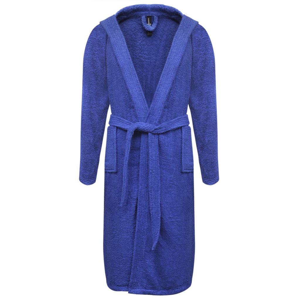 Froté unisex župan, 500 g/m², 100% bavlna, modrý, S