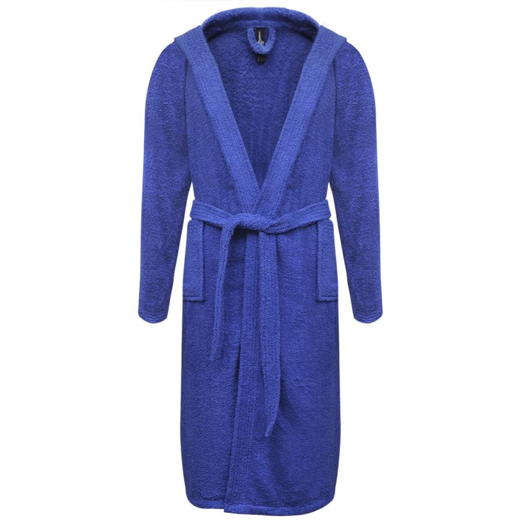 Froté unisex župan, 500 g/m², 100% bavlna, modrý, M
