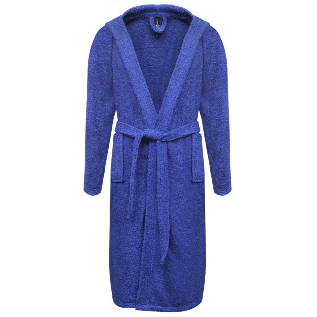 Froté unisex župan, 500 g/m², 100% bavlna, modrý, XXL