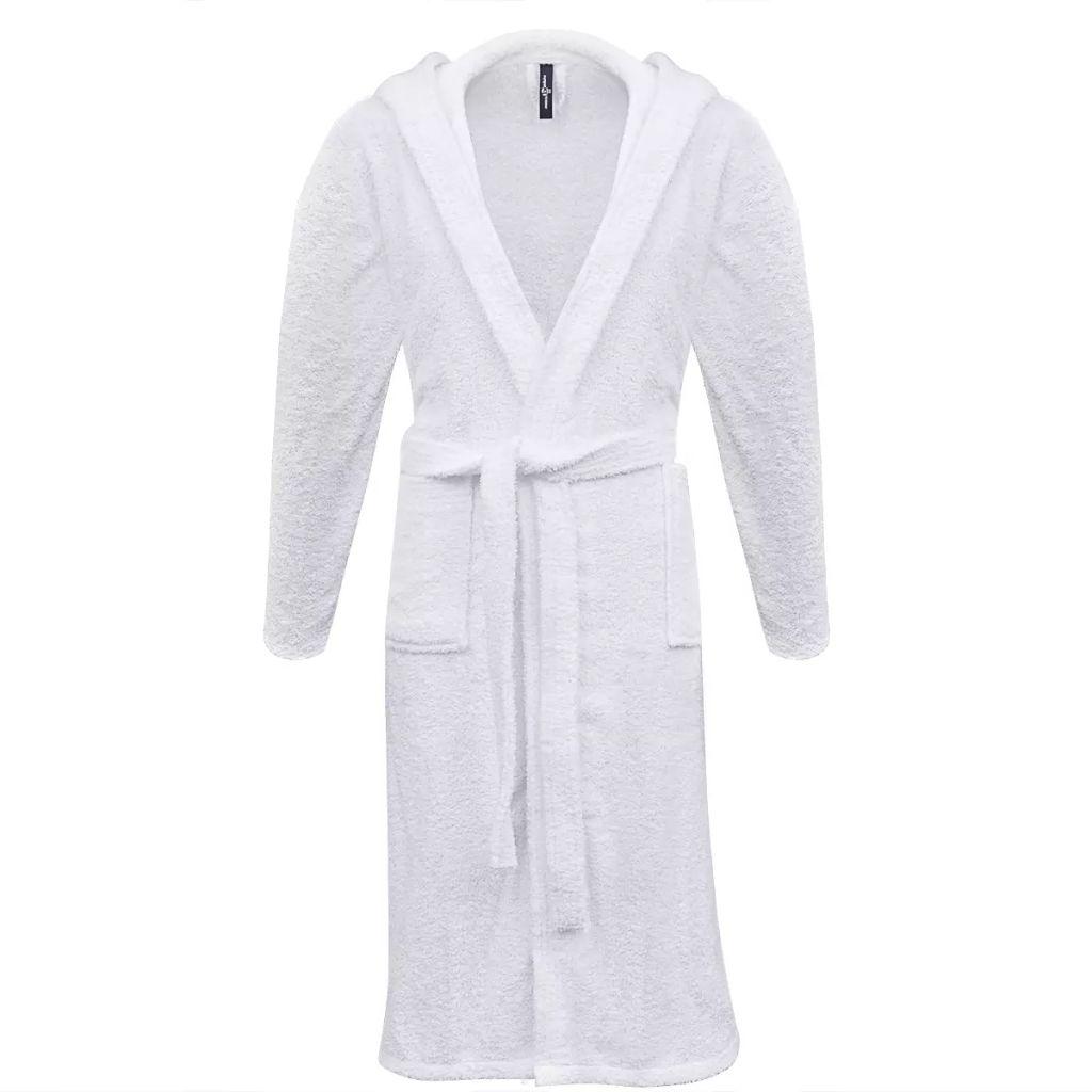 Froté unisex župan, 500 g/m², 100% bavlna, biely, L