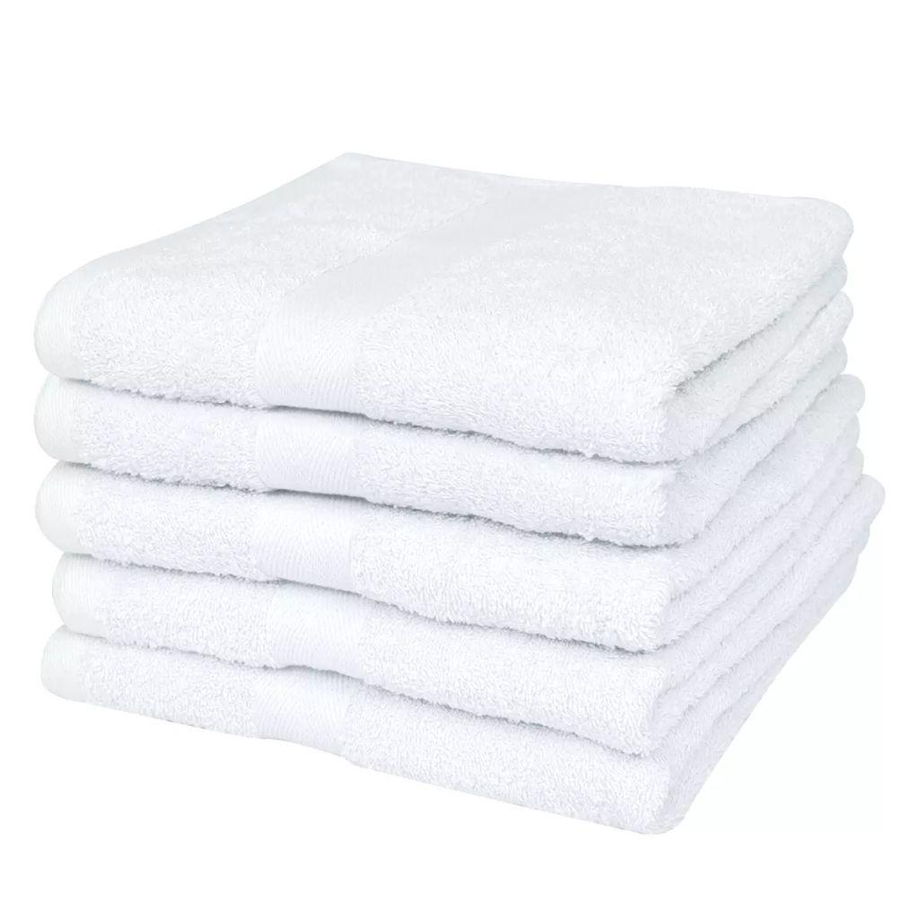 vidaXL Hotelové osušky sada 25ks bavlna 400g/m² 100x150cm biele
