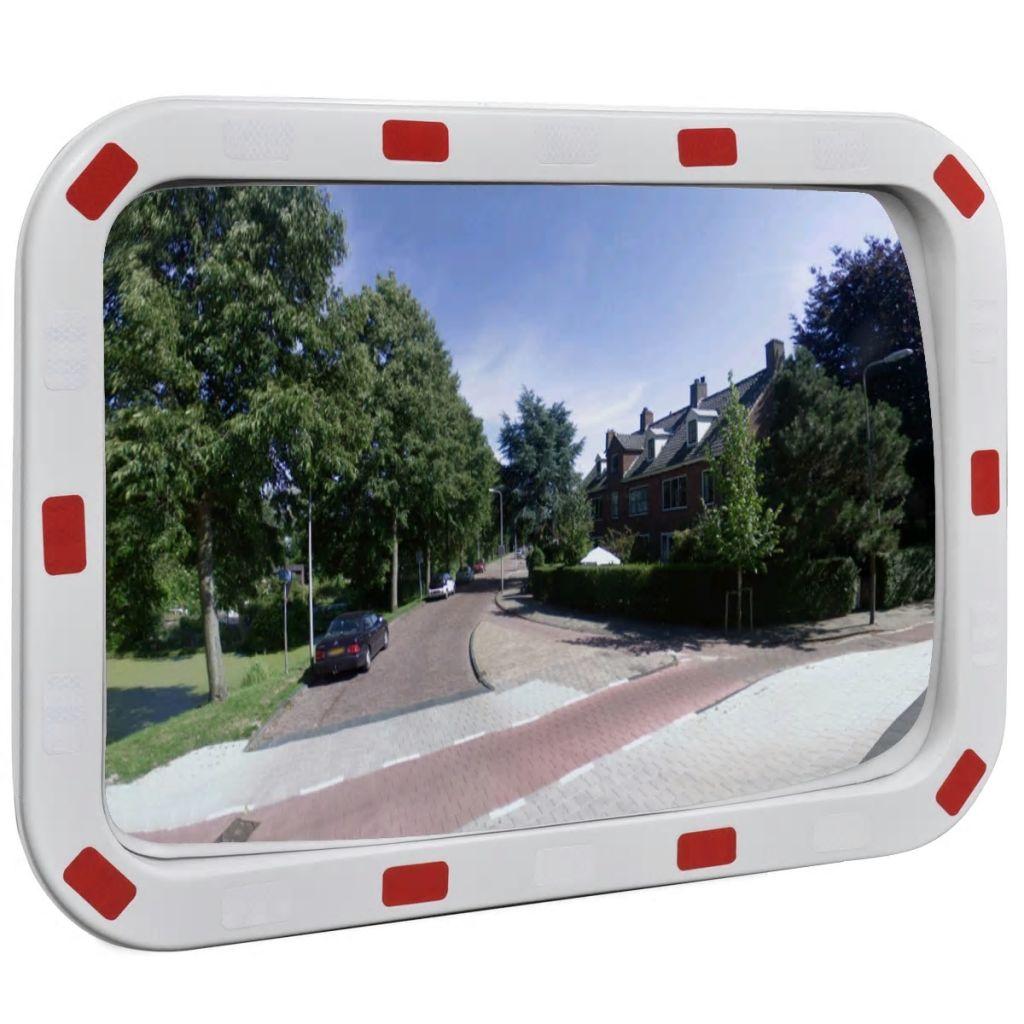Vypuklé zrkadlo obdĺžnikové s reflektormi, 40 x 60 cm