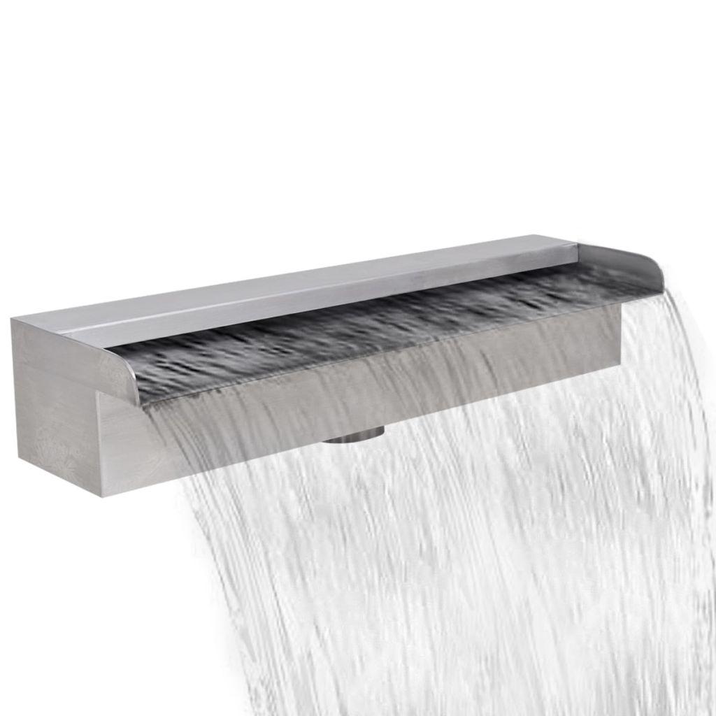 Obdĺžniková nerezová bazénová fontána/vodopád 45 cm