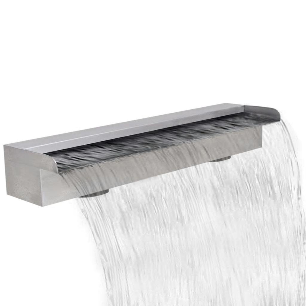 Obdĺžniková nerezová bazénová fontána/vodopád 60 cm