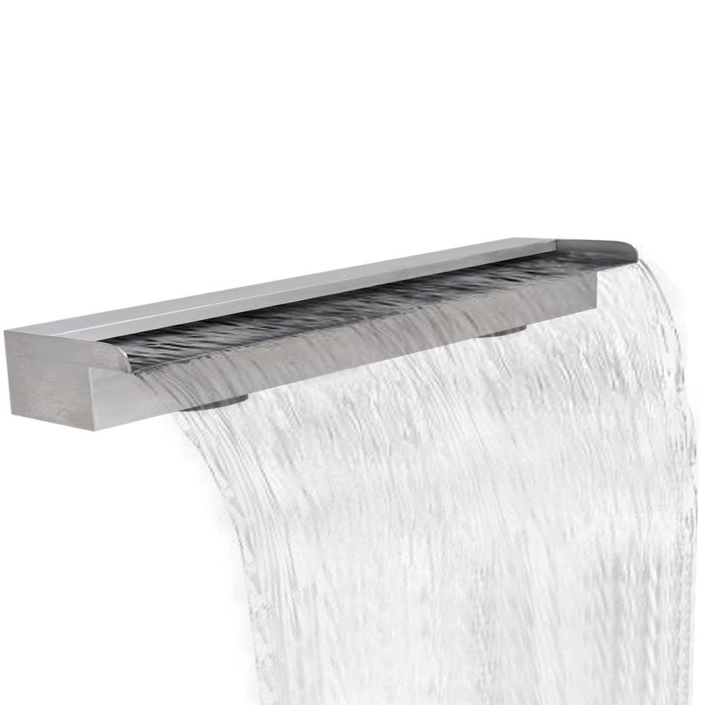 Obdĺžniková antikorová bazénová fontána/vodopád 150 cm