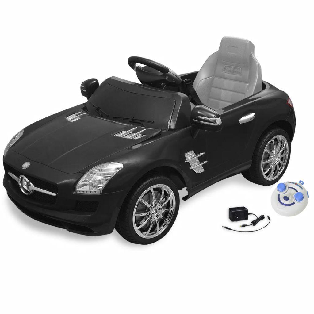 Detské elektrické pojazdné auto, čierne, Mercedes Benz SLS AMG 6 V