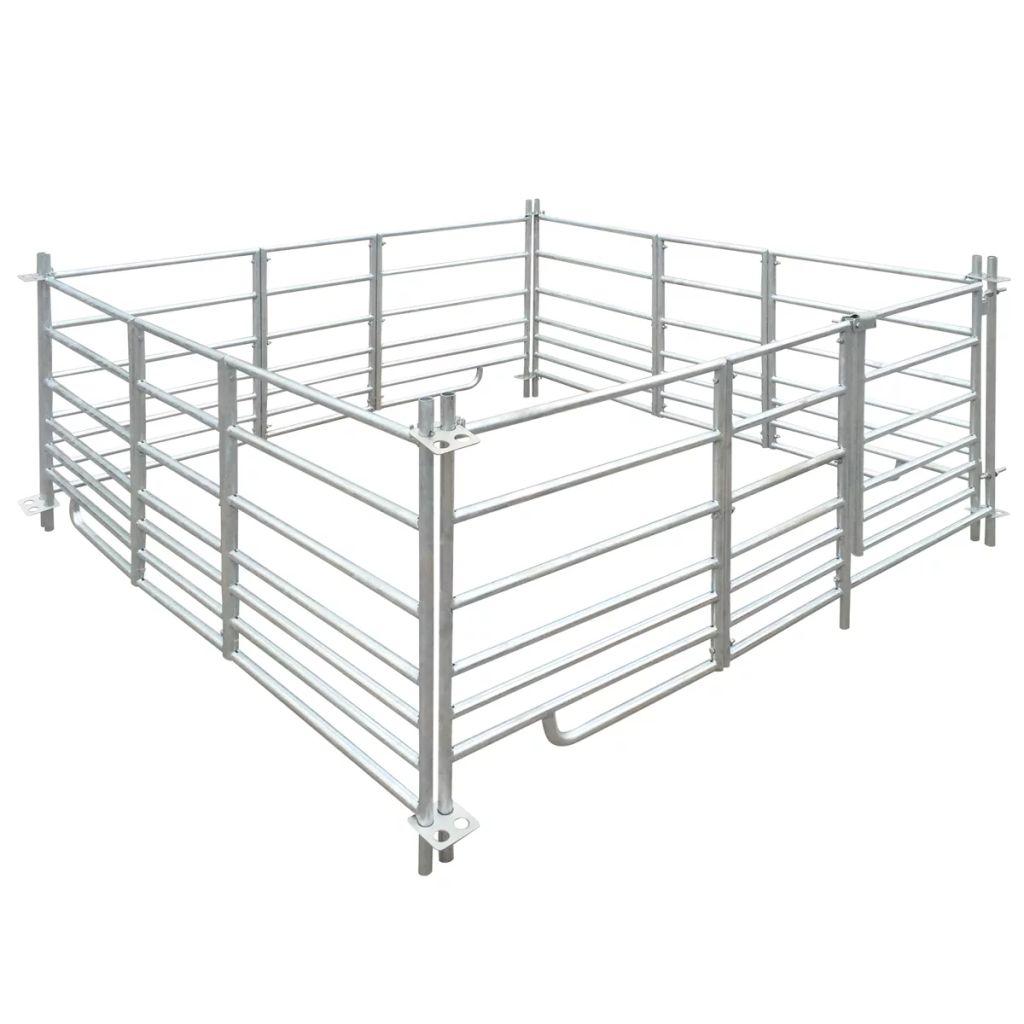 4-panelová ohrada pre ovce z galvanizovanej ocele 183 x 183 x 92 cm