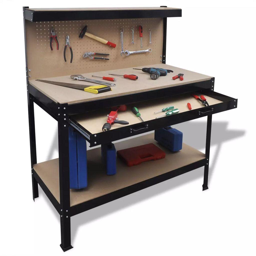Dielensky pracovný stôl s nástenkou s háčikmi a zásuvkou