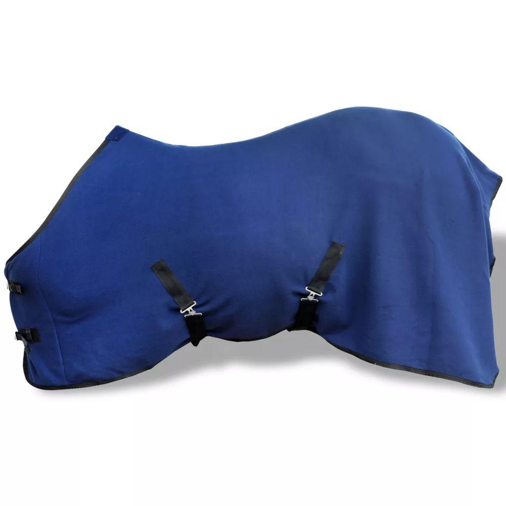 Fleecová pokrývka s popruhmi, 155 cm, modrá