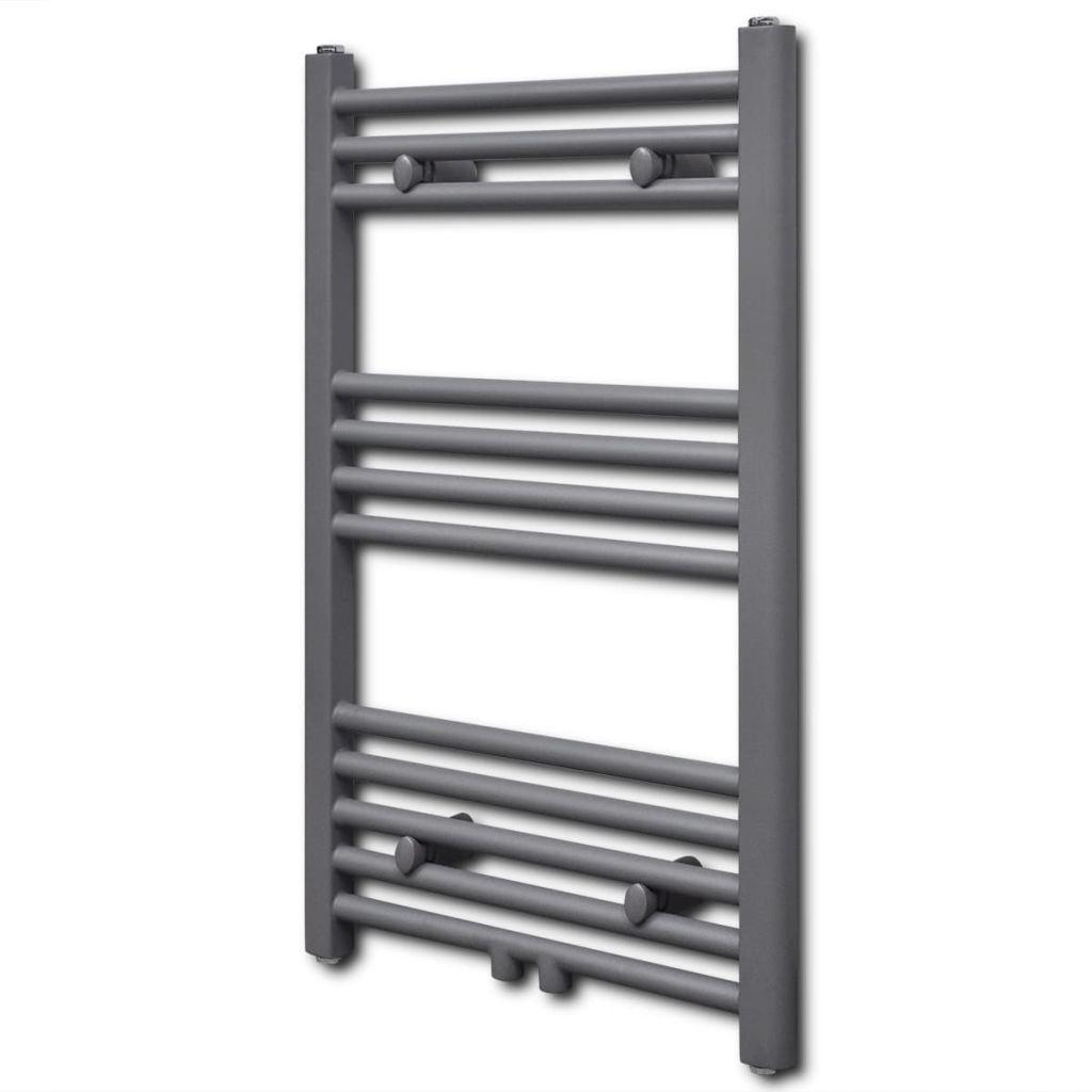Rebríkový radiátor na centrálne vykurovanie, rovný 500 x 764 mm, šedý