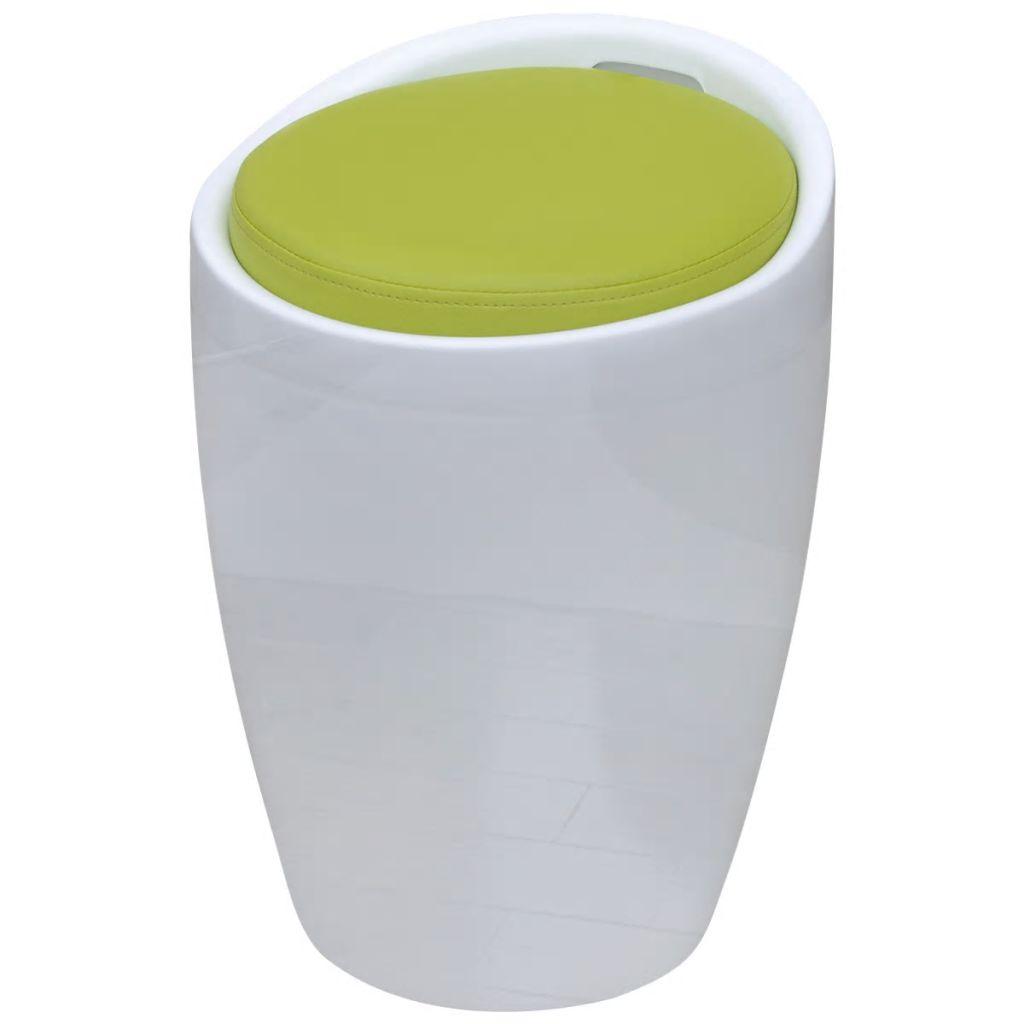 vidaXL Okrúhla barová stolička s odnímateľným sedadlom, umelá koža, zelená