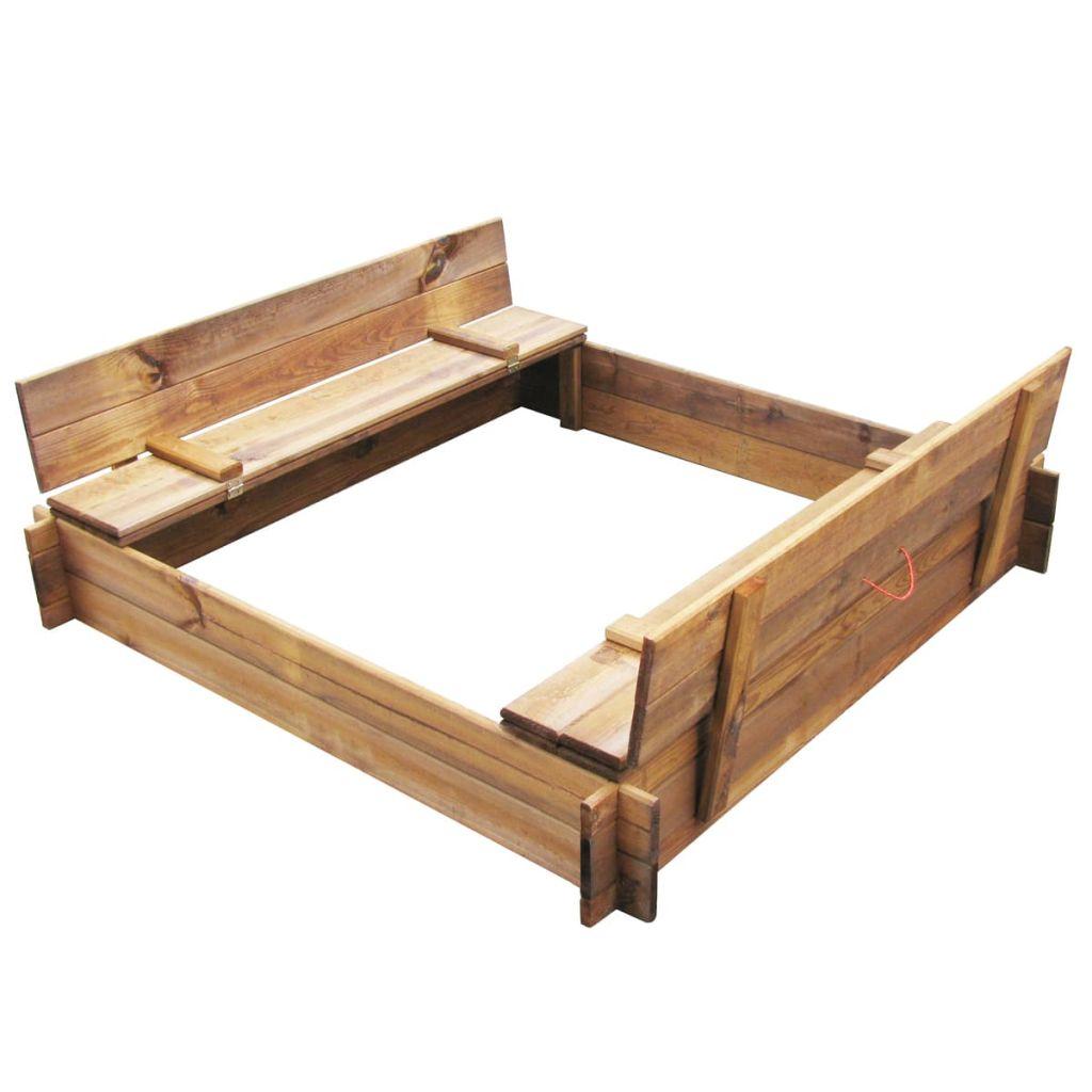 Pieskovisko v tvare štvorca z impregnovaného dreva