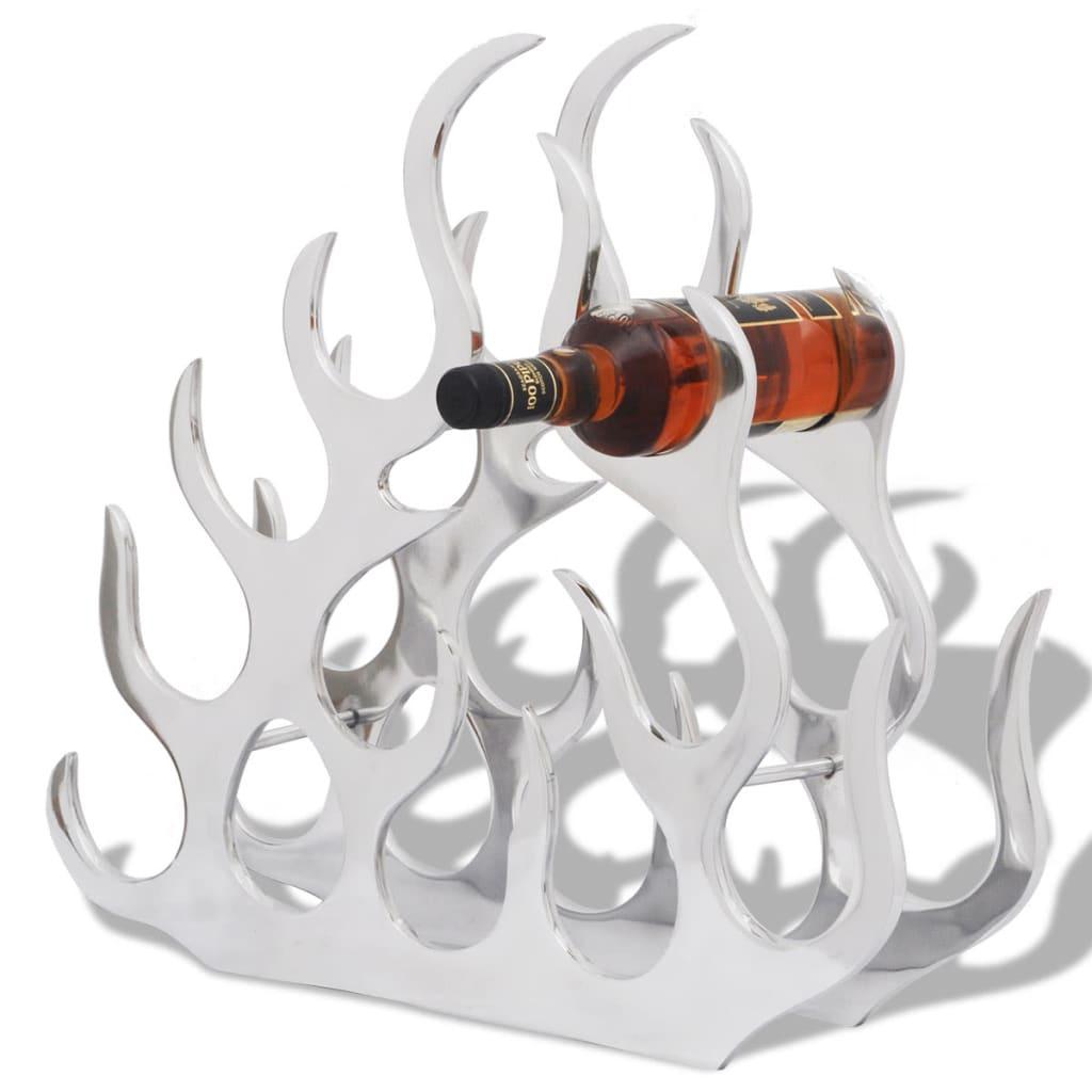vidaXL Stojan na víno na 11 fliaš, strieborný, hliníkový