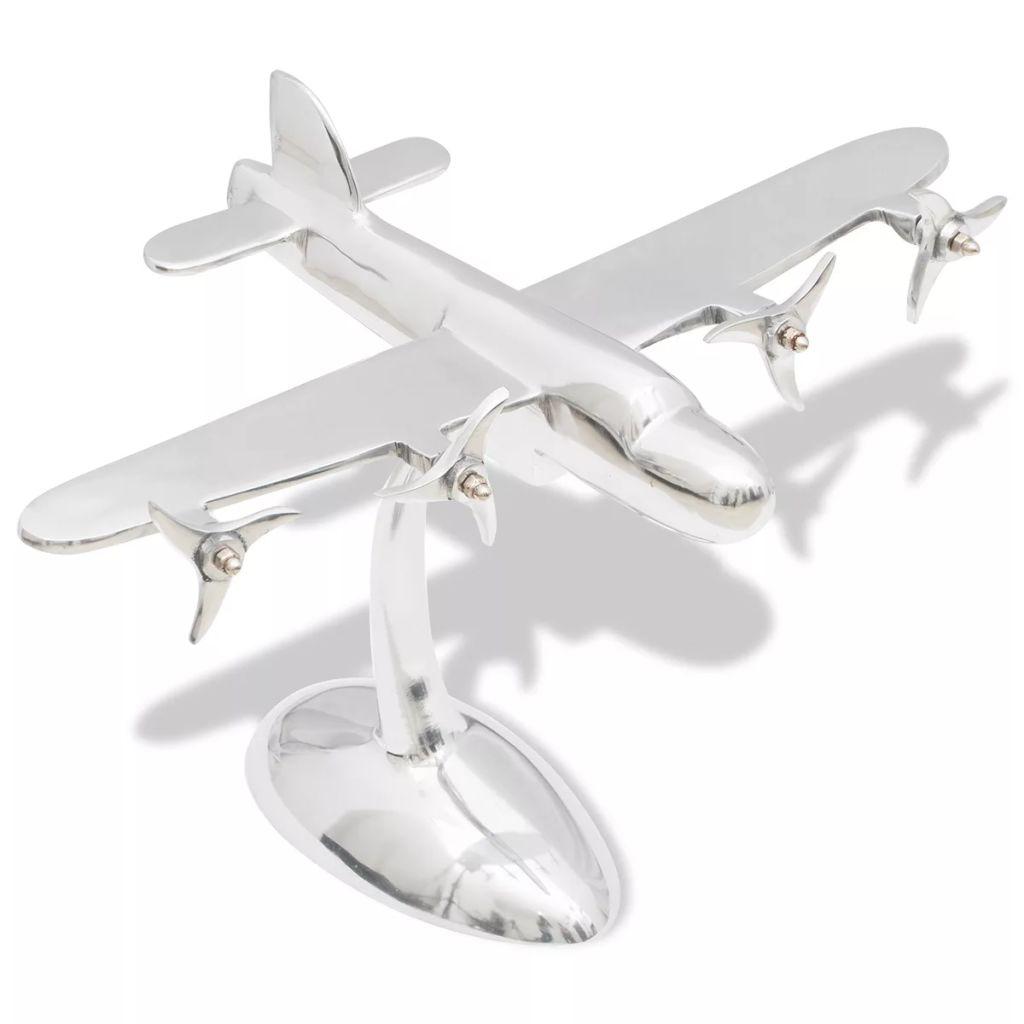 Hliníkový model lietadla, stolová dekorácia