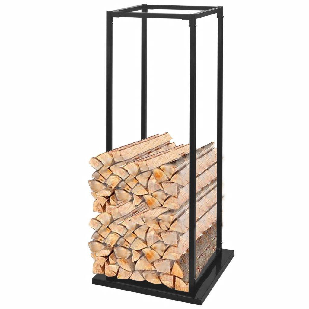 vidaXL Stojan na krbové drevo so základňou 113 cm