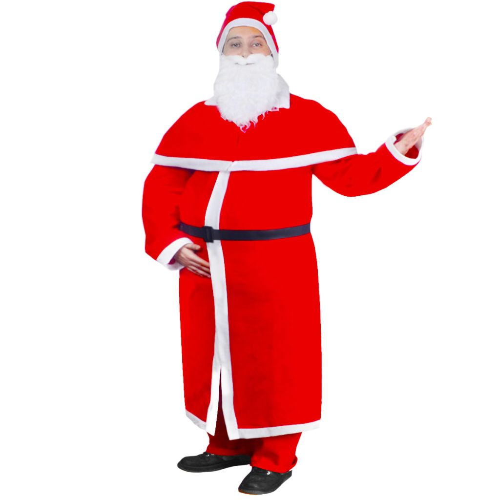 Vianočný kostým Santa Clausa s dlhým kabátom