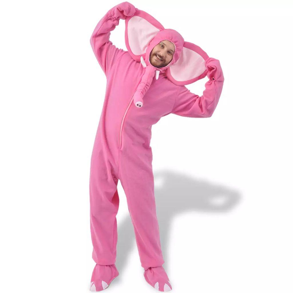 Kostým na karneval - slon, ružový, veľkosť XL-XXL vidaXL
