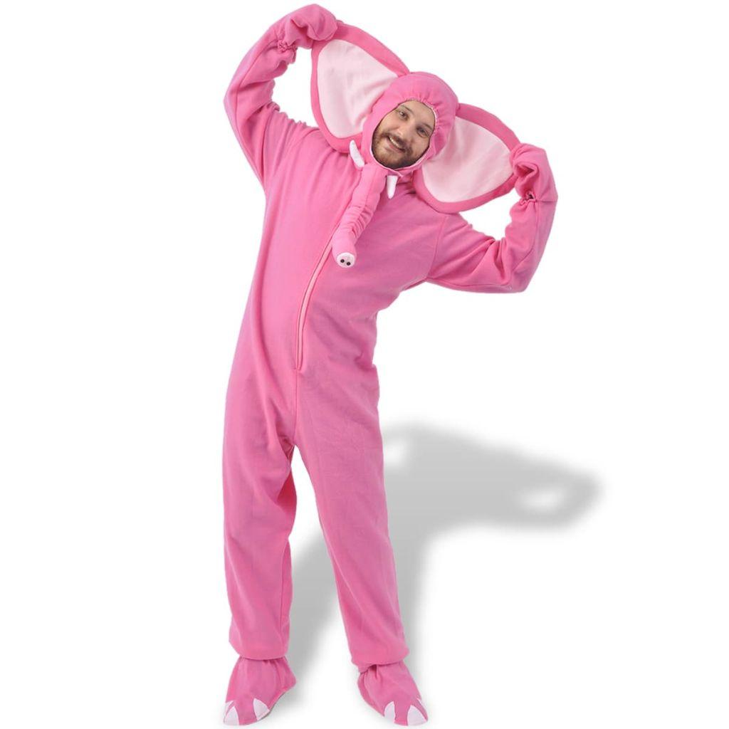 Kostým na karneval - slon, ružový, veľkosť M-L vidaXL
