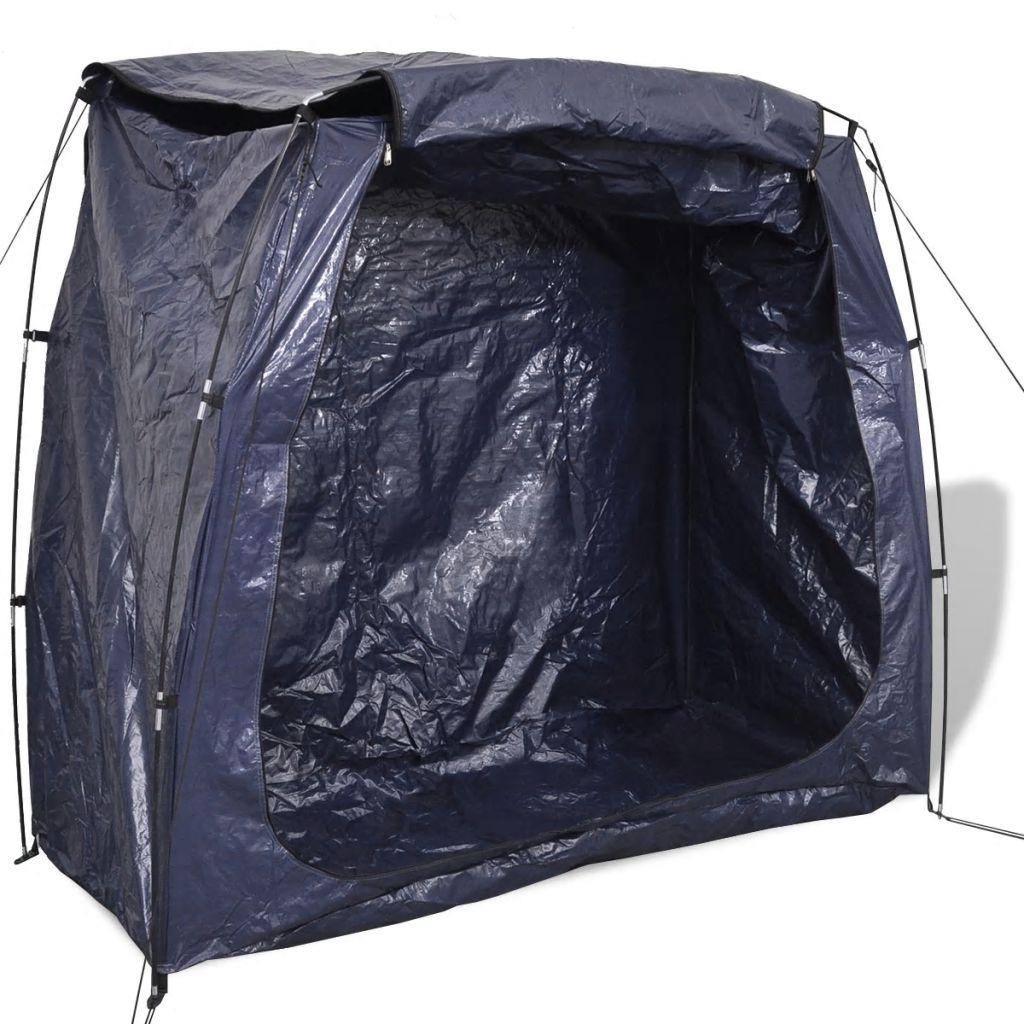 vidaXL Úložný stan na bicykel, 200x80x150 cm, modrý