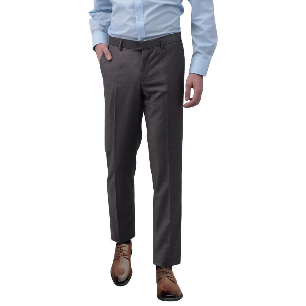 vidaXL Pánske oblekové nohavice, šedé, veľkosť 48