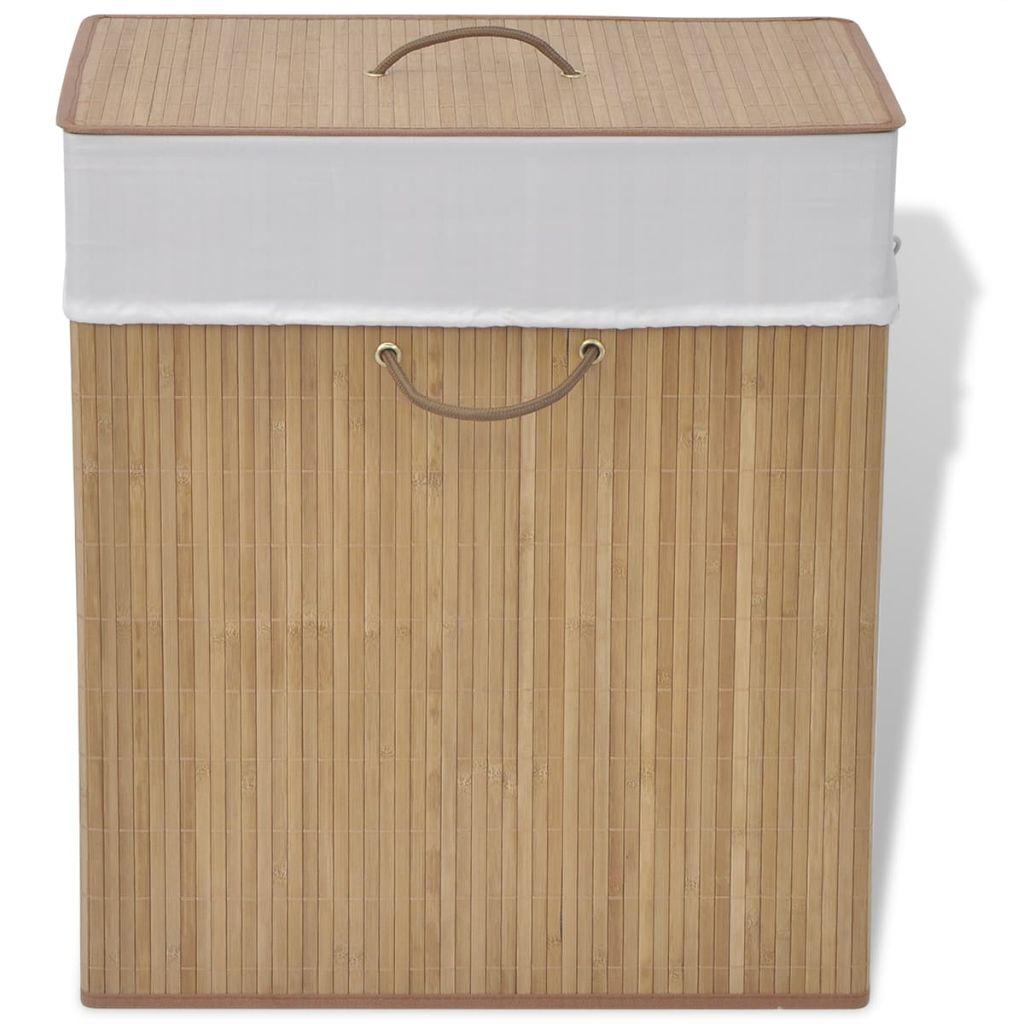 vidaXL bambusový kvádrový kôš na prádlo prírodný