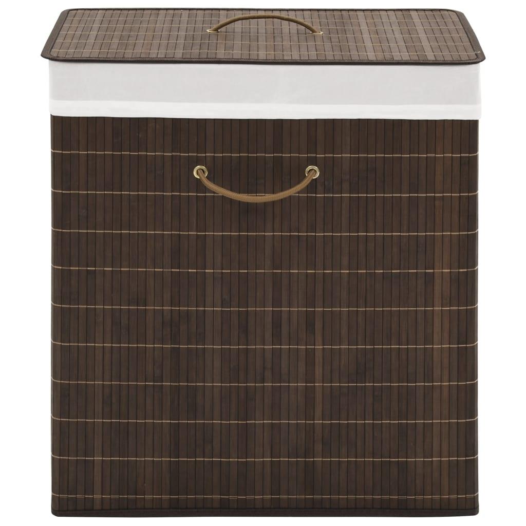 vidaXL bambusový kvádrový kôš na prádlo hnedý