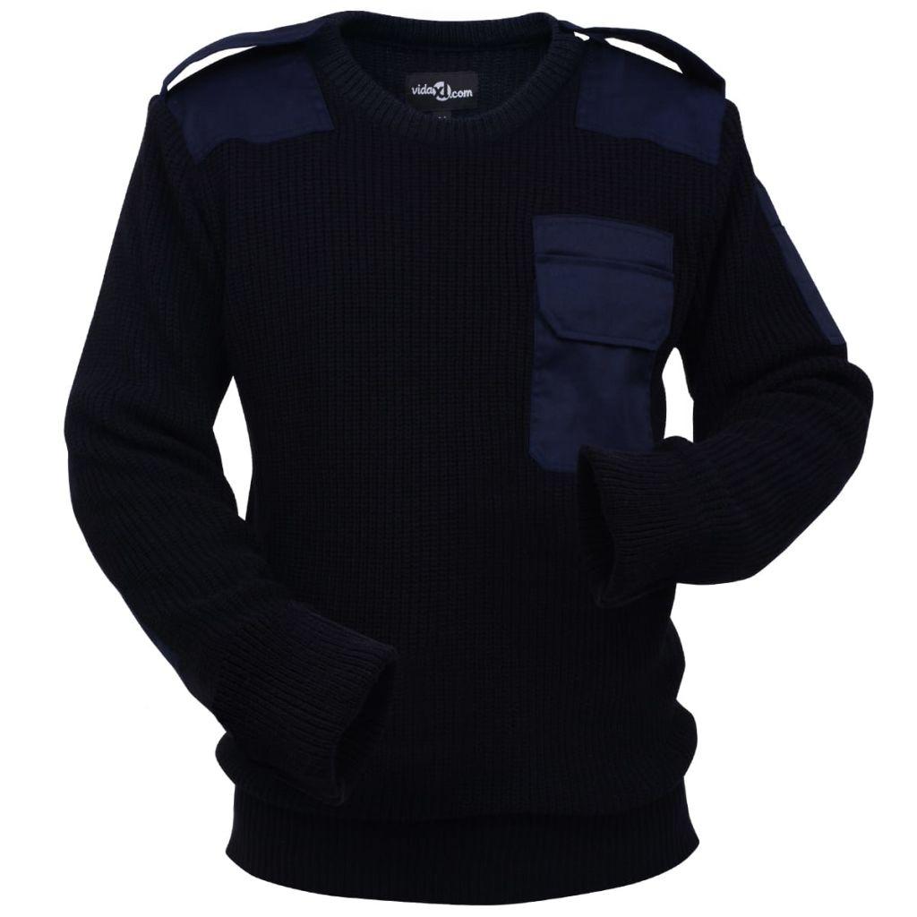 vidaXL Pánsky pracovný pulóver, námornícka modrá, veľkosť L