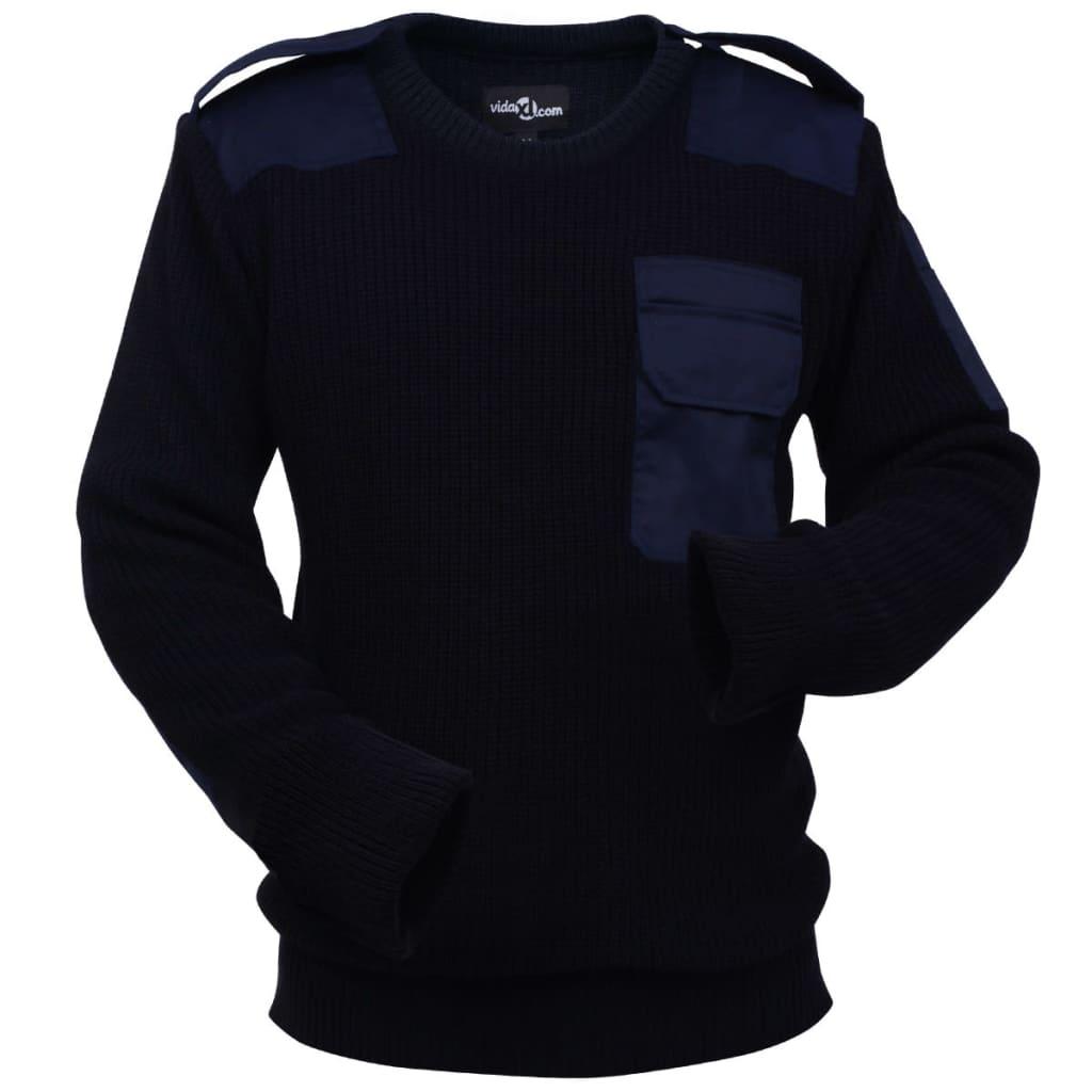 vidaXL Pánsky pracovný pulóver, námornícka modrá, veľkosť XL