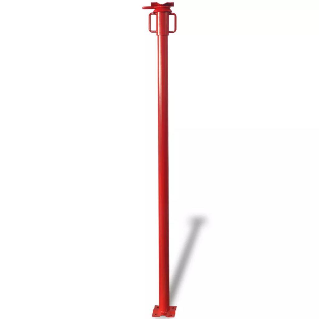 Stavebná stojka, červená vidaXL 280 cm