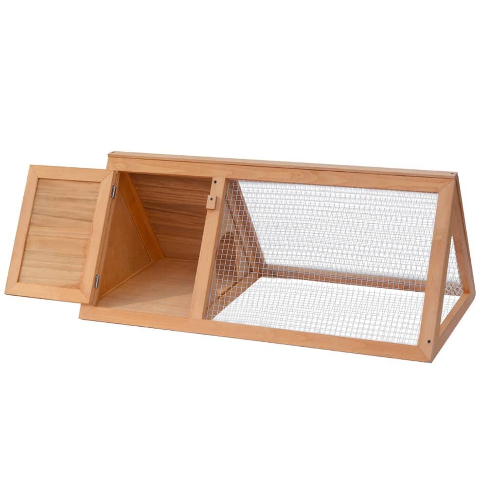 vidaXL Klietka na zajace/králikáreň, drevená