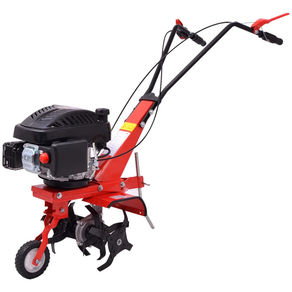 vidaXL Benzínový kultivátor 5 HP 2.8 kW, červený
