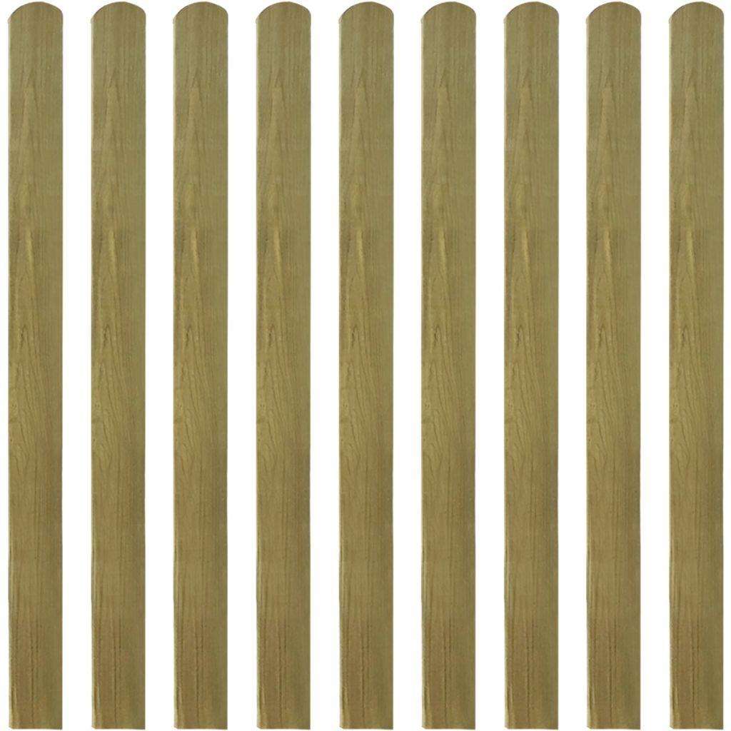 vidaXL impregnované laty do plota 10 ks 120 cm drevené
