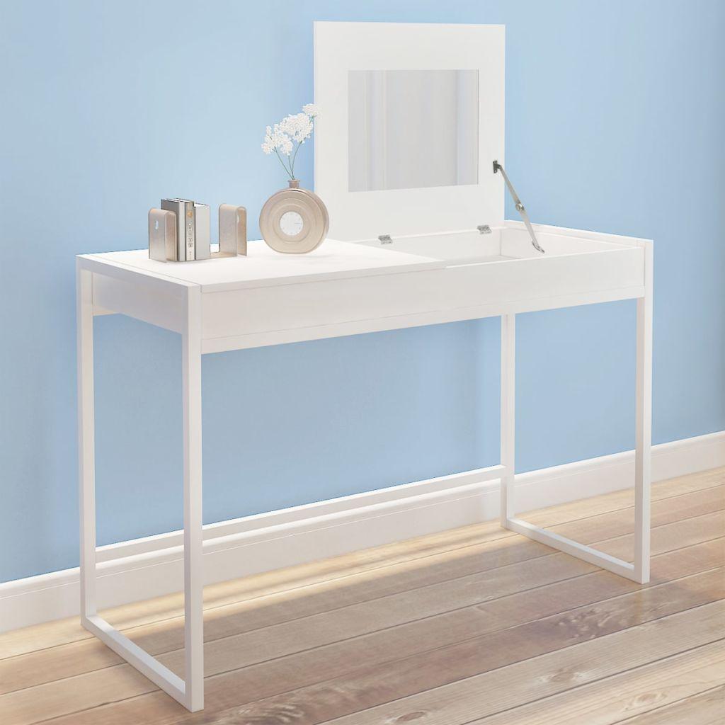 Biely toaletný stolík vidaXL