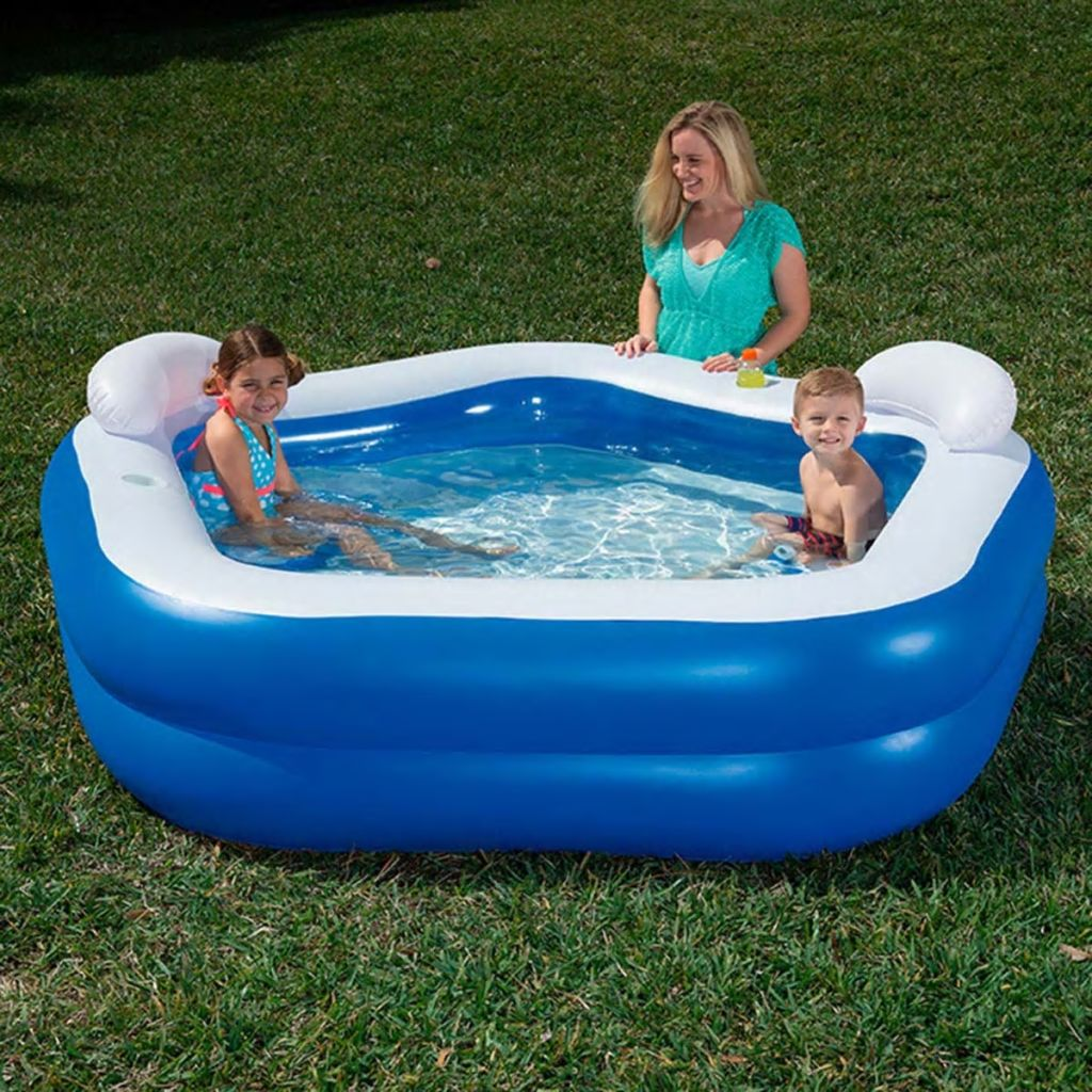 Bestway Modrý detský bazén, 213x207x69 cm, 54153