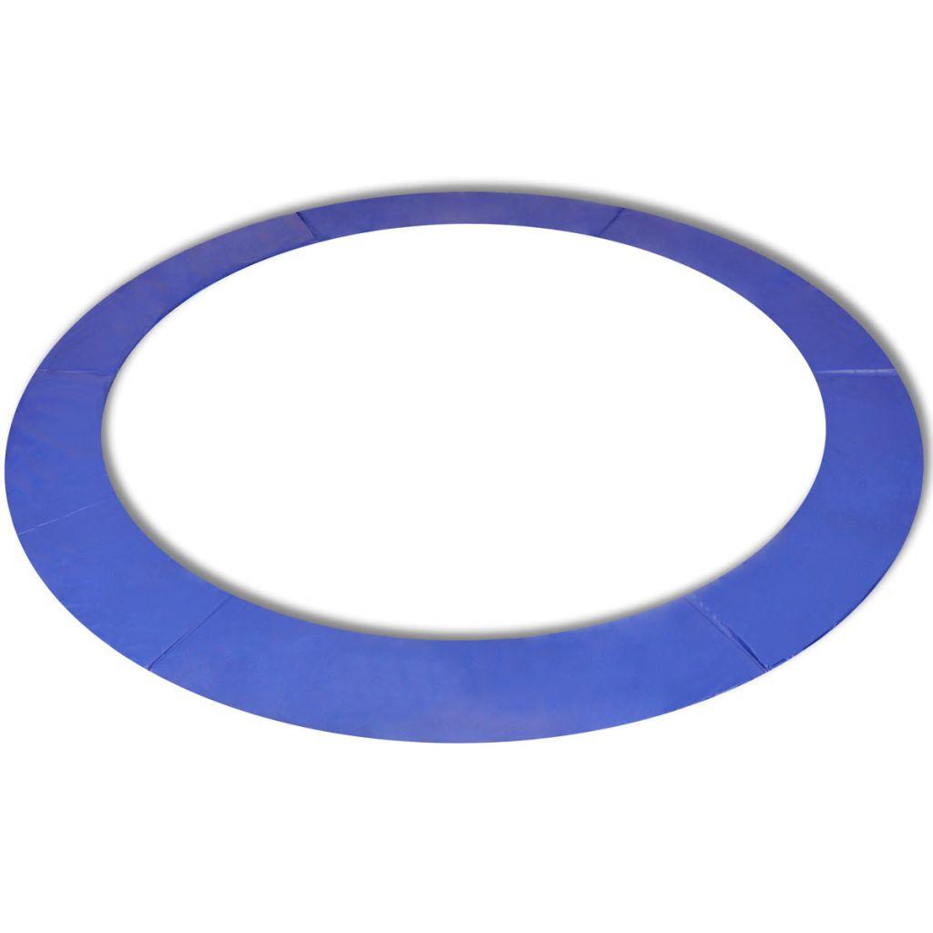 vidaXL Ochranný kryt na kruhovú trampolínu 4.57 m, PE, modrý