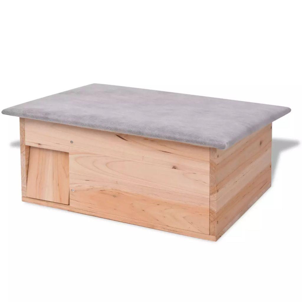 vidaXL Dom pre ježkov, 45x33x22x cm, Drevo