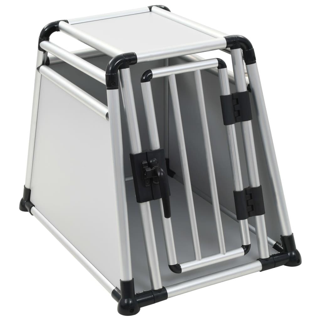 vidaXL Prepravný box pre psa, hliníkový, M
