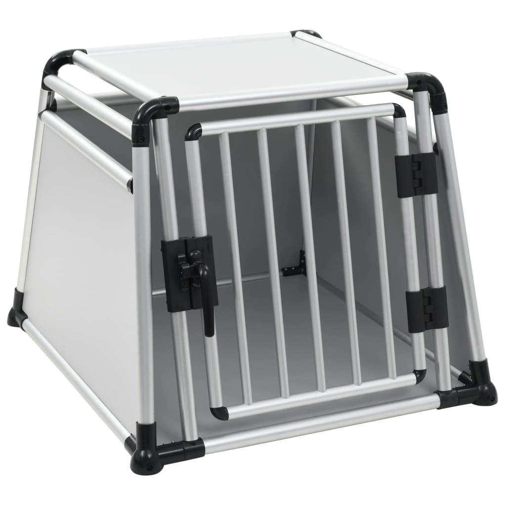 vidaXL Prepravný box pre psa, hliníkový, L