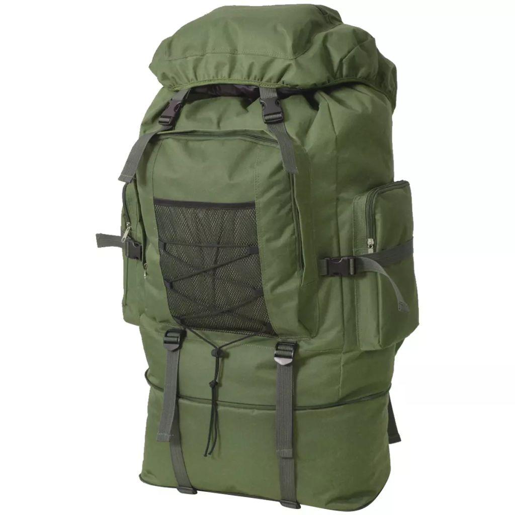 vidaXL Batoh vo vojenskom štýle XXL, 100 l, zelený