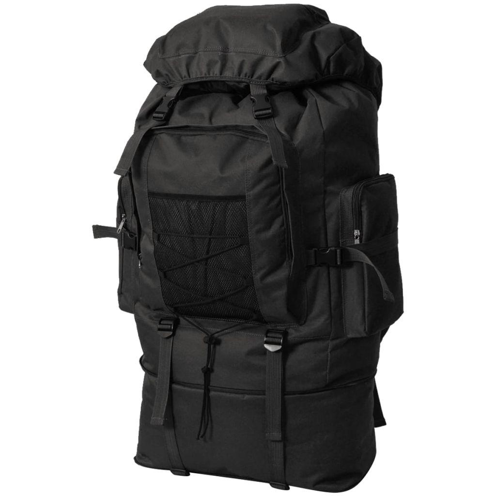 vidaXL Vojenský batoh XXL, 100 l, čierny