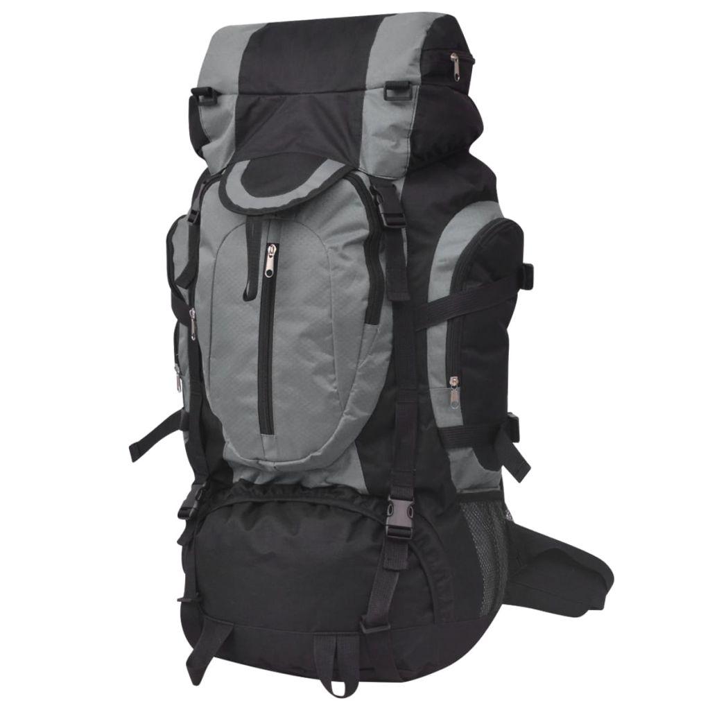 vidaXL Turistický batoh XXL, 75 l, čierno-modrý